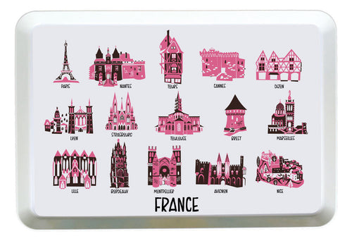 France Tray-Custom City Tray