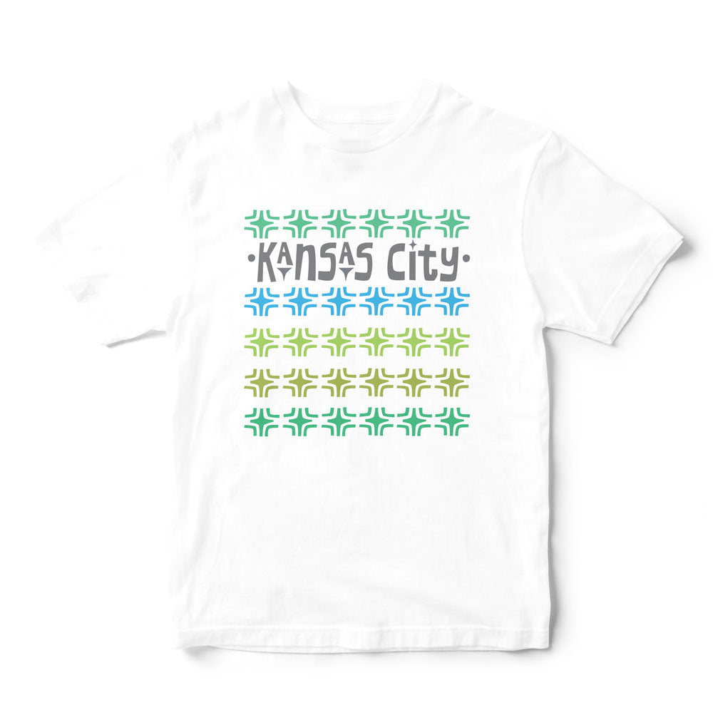 Kansas City T Shirt-Breezebrick Collection-Gray, Blue, Lime, Olive