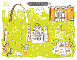 St. Louis MO Wall Art-Custom City Print