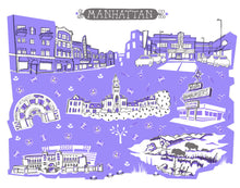 Manhattan KS Wall Art-Custom City Print