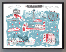 Seattle WA Wall Art-Custom City Print