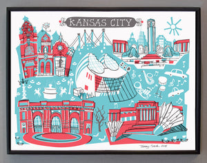 Kansas City Wall Art-Custom City Print