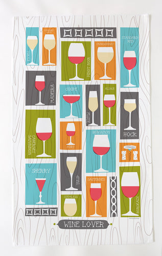 Wine Lover Tea Towel