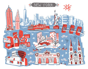 New York City Wall Art-Custom City Print