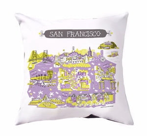San Francisco Pillow Cover-16x16-SALE