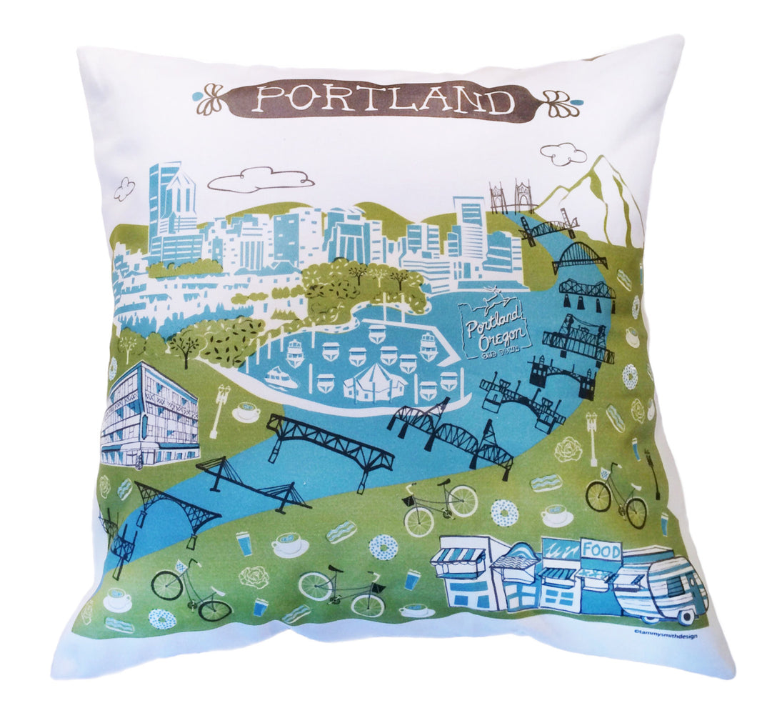 Portland Pillow Cover-16x16
