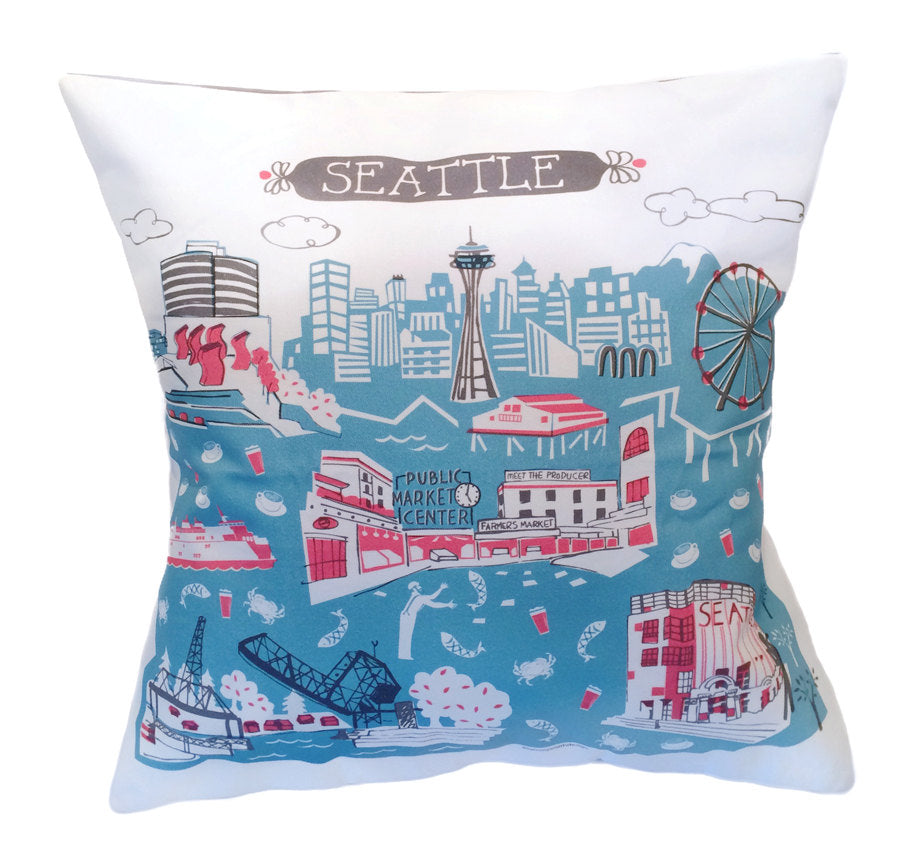 Seattle Pillow Cover-16x16