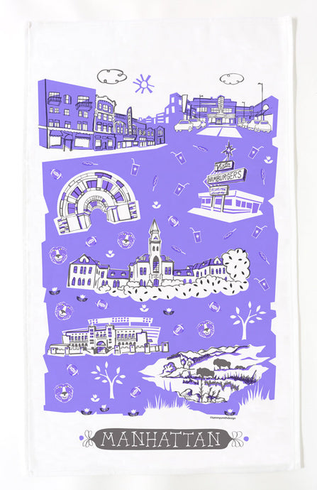 Manhattan KS Tea Towel