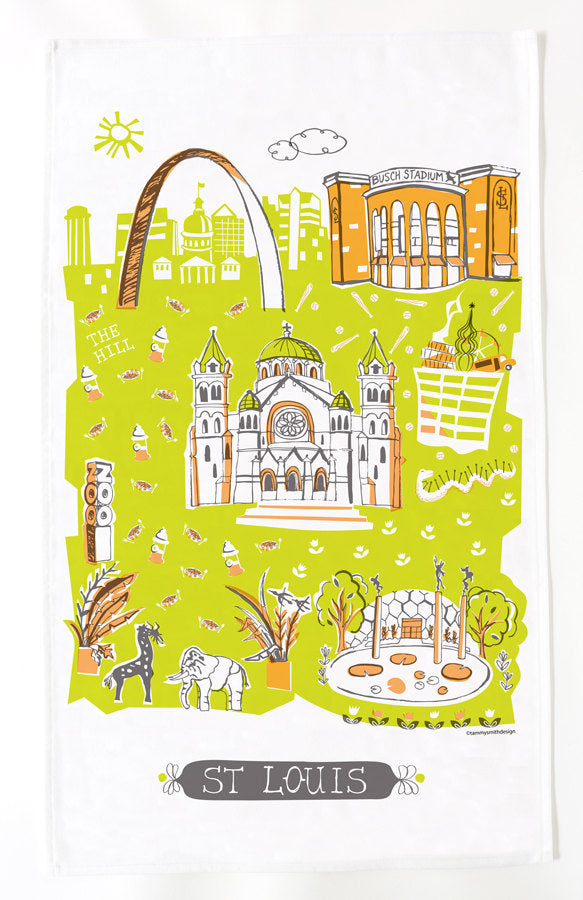St Louis Tea Towel