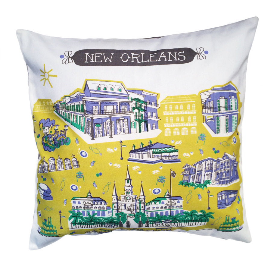 New Orleans Pillow Cover 16x16 Tammy Smith Design
