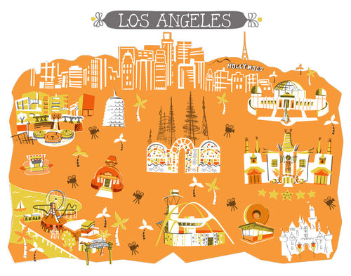Los Angeles Pillow Cover-16x16
