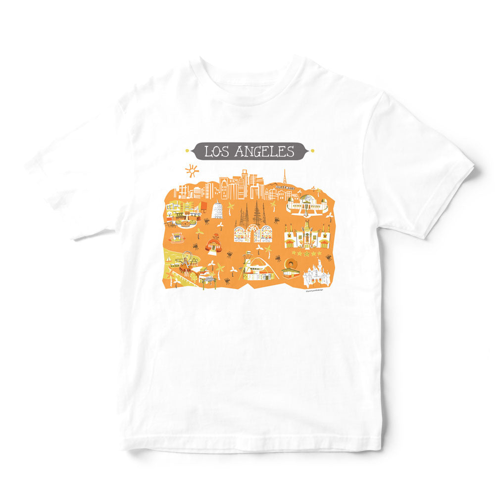 Los Angeles T Shirt-Eco Friendly Print DTG