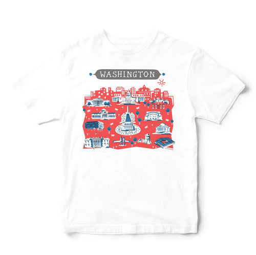 Washington DC T Shirt-Eco Friendly Print DTG