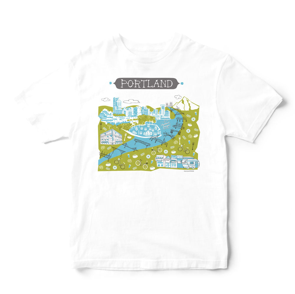 Portland OR T Shirt-Eco Friendly Print DTG