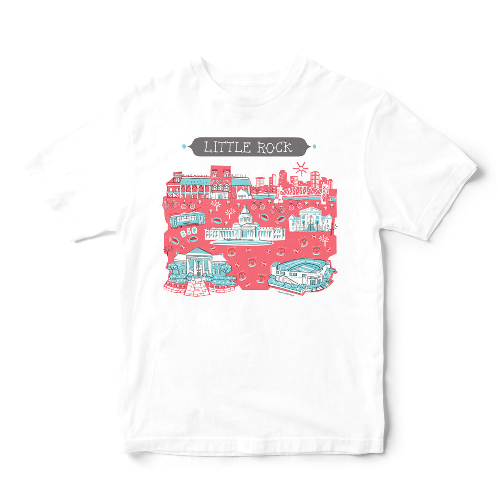 Little Rock T Shirt-Eco Friendly Print DTG