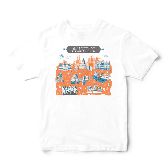 Austin T Shirt-Eco Friendly Print DTG