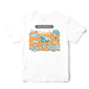 Memphis T Shirt-Eco Friendly Print DTG