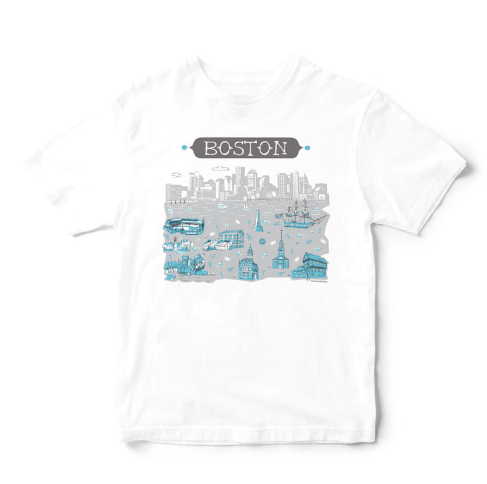 Boston T Shirt-Eco Friendly Print DTG