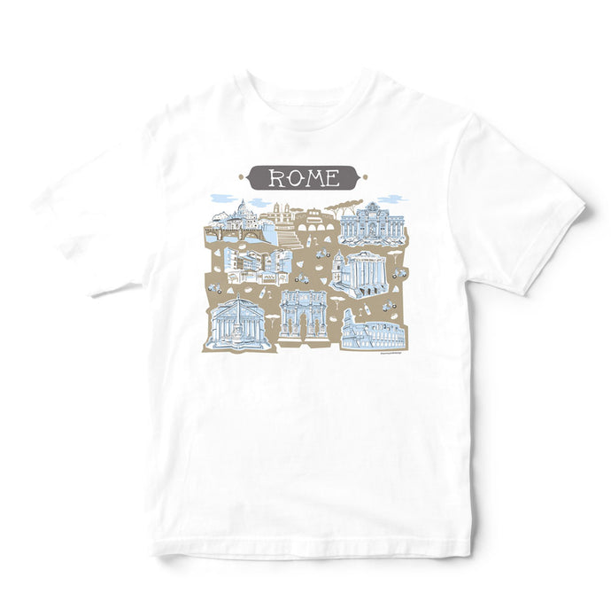 Rome Italy T Shirt-Eco Friendly Print DTG
