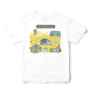 Nashville T Shirt-Eco Friendly Print DTG