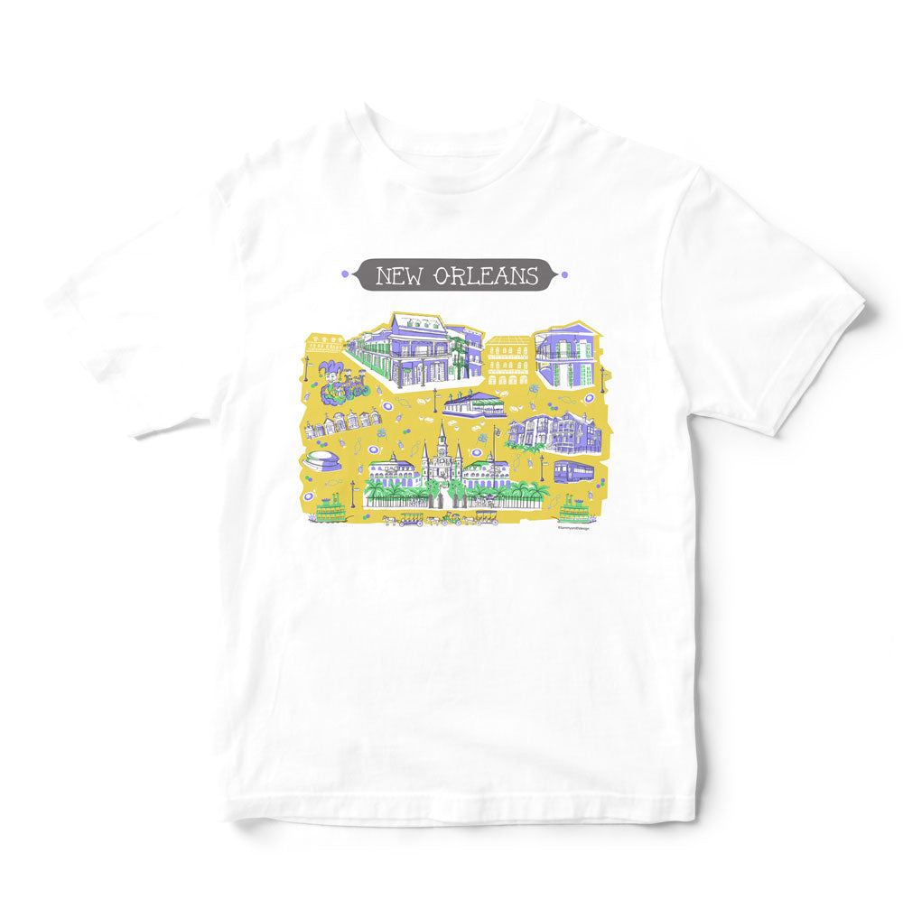 New Orleans T Shirt-Eco Friendly Print DTG