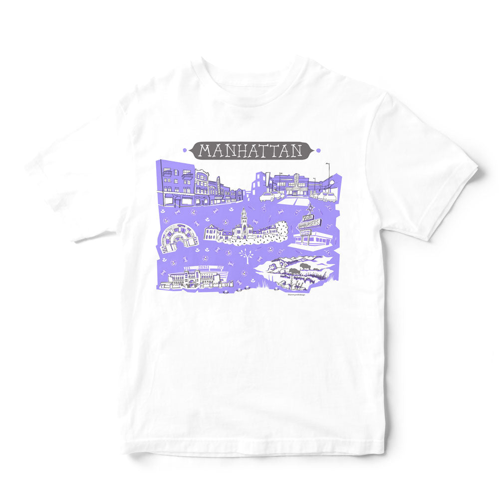 Manhattan KS T Shirt-Eco Friendly Print DTG