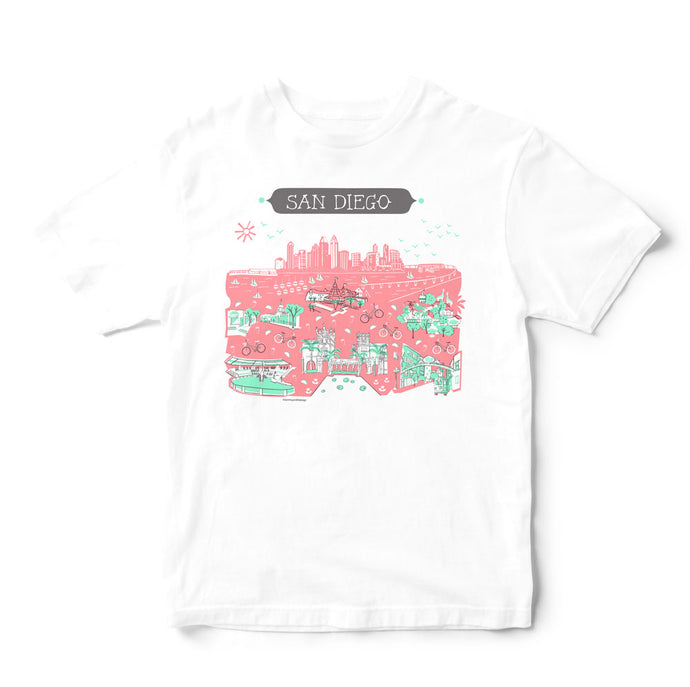 San Diego T Shirt-Eco Friendly Print DTG