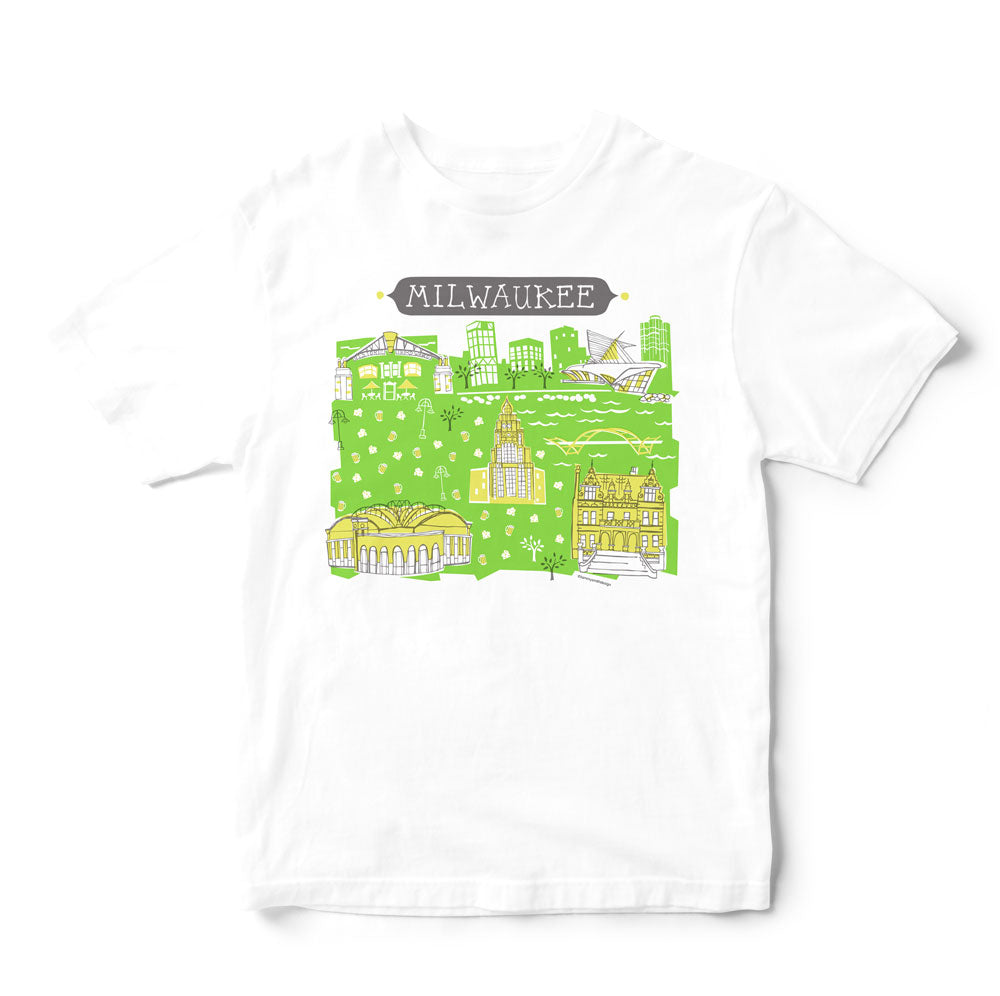 Milwaukee T Shirt Eco Friendly Print Dtg Tammy Smith Design
