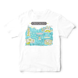 Chicago T Shirt-Eco Friendly Print DTG