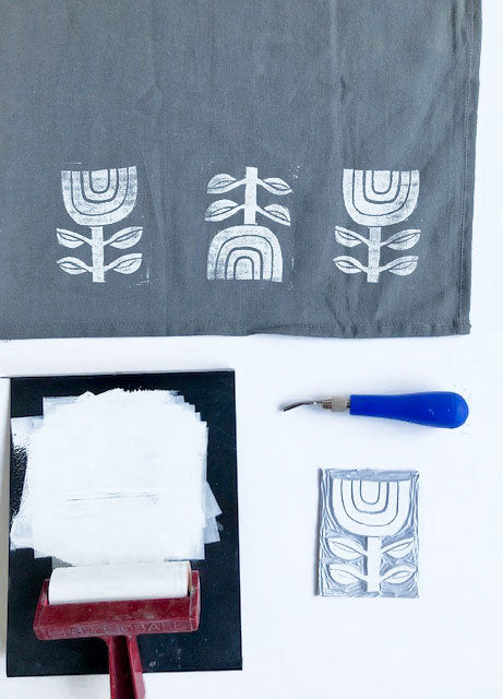 Linocut Print Your Own Tea Towels Class