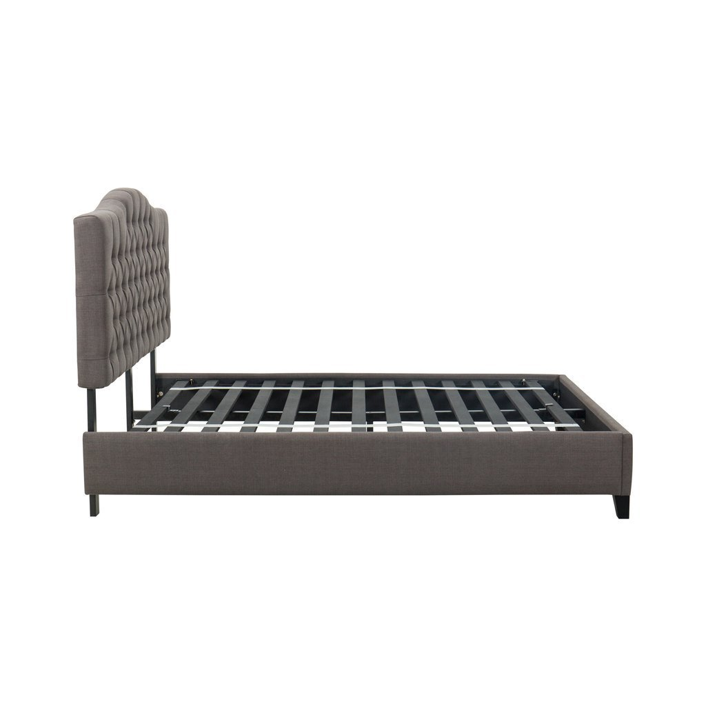 Bed Frame with Upholstered Headboard - PEAK LABS