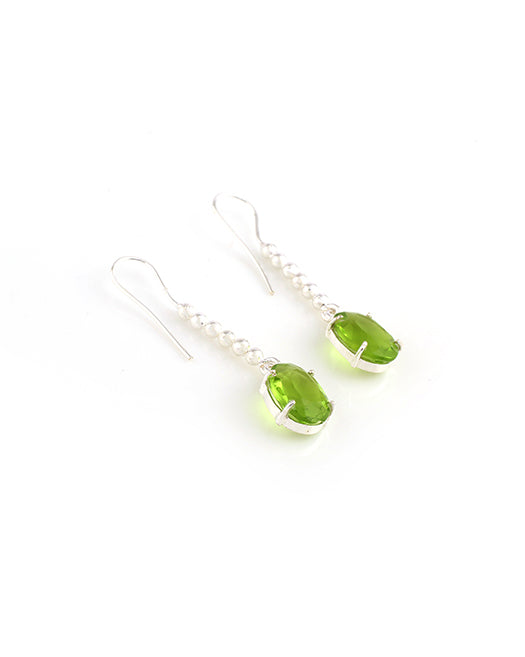 Olive Raindrop Earrings - Mokshali