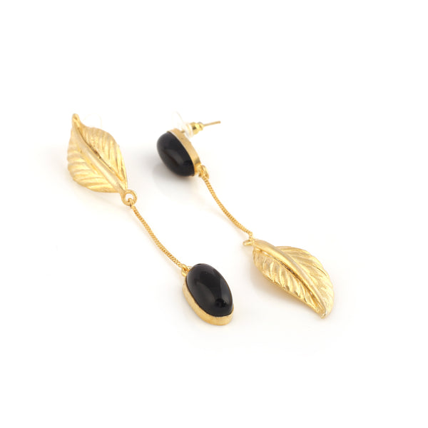 Dark-leaf Earrings - Mokshali