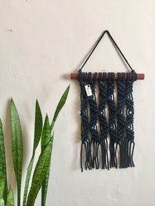 Criss cross Wall hanging - Black Marble