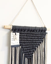 Midnight blue V-shape wall hanging