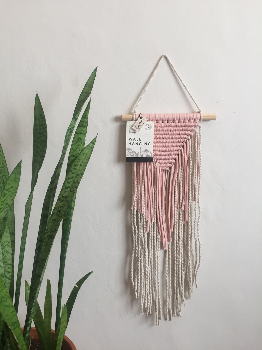 Blush pink wall hanging 2