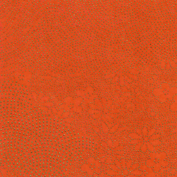 Papier Japonais - Paysage Points Or - Orange - M846