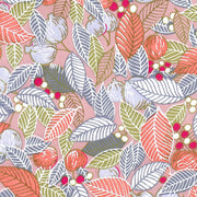 Applique Murale - Feuilles, Baies et Fruits - Rose Saumon, Orange et Gris - M852