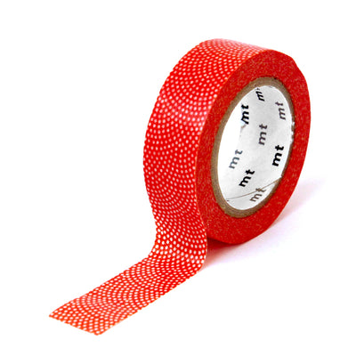 Masking Tape Points blancs, Fond rouge vif