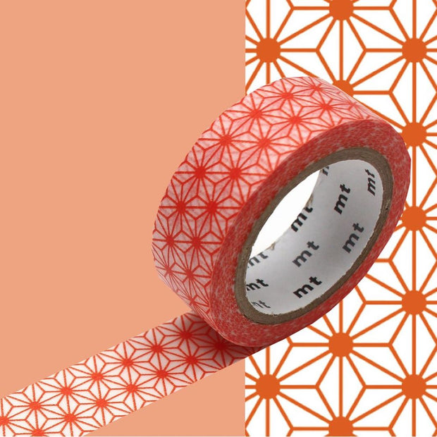 Masking Tape - Asanoha - Orange