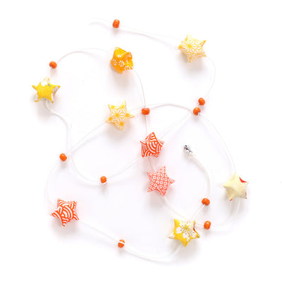 Kit guirlande d'étoiles en origami - Orange