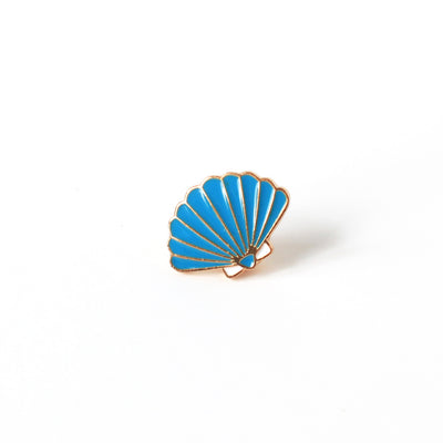 Pin's - Coquillage - Bleu