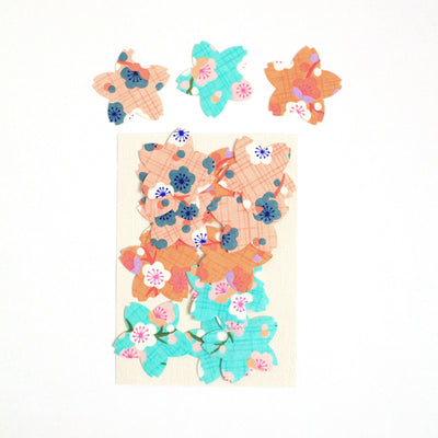 Lot de 18 Stickers Washi - Sakura - Rétro
