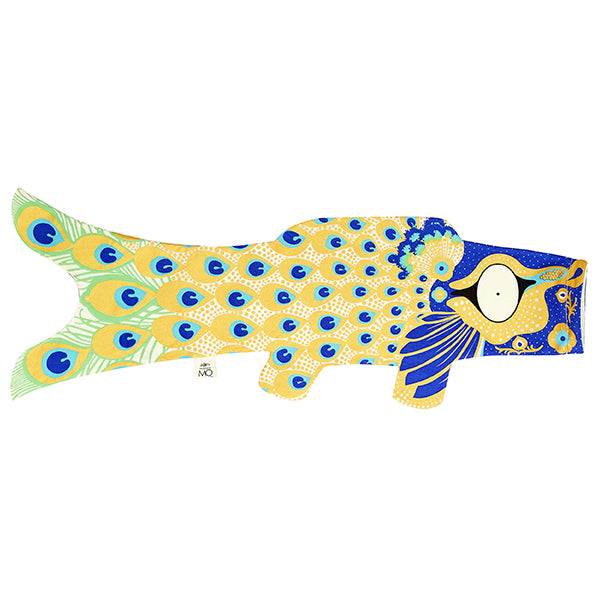 Manche à air poisson Koinobori Paon - S