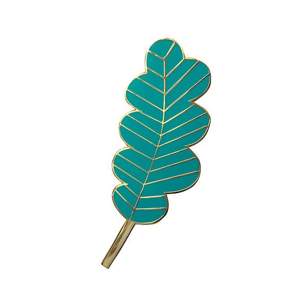 Pin's Grande Feuille Turquoise Mini Labo