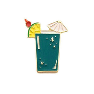 Pin's Cocktail - Turquoise profond