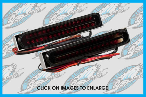 DIRTYBIRD CONCEPTS - TAIL LIGHTS - Harley – Jaded Oval Integrated LED Tail Lights