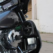 "Load image into Gallery viewer, HOGWORKZ - LOWERS -Harley Lower Vented Fairing 6.5"" Speaker Pod Mounts"