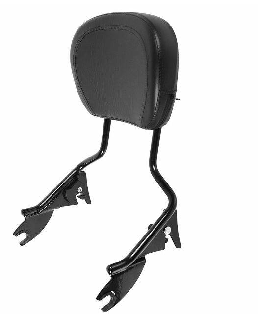 HOGWORKZ - SEATS - Harley Touring '09-'18  Black Tall Boy Sissy Bar