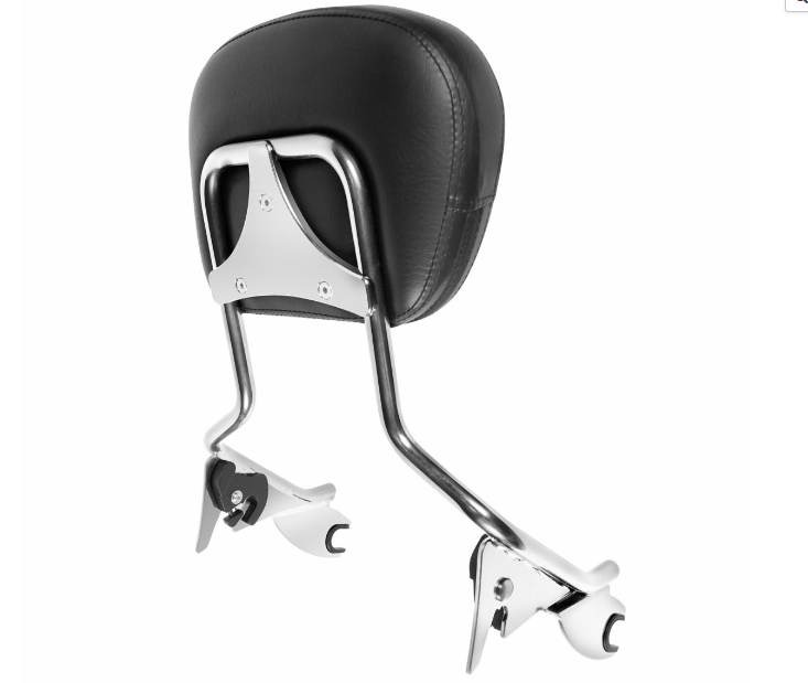 HOGWORKZ - SEATS - Harley Touring '09-'18 Chrome Tall Boy Sissy Bar